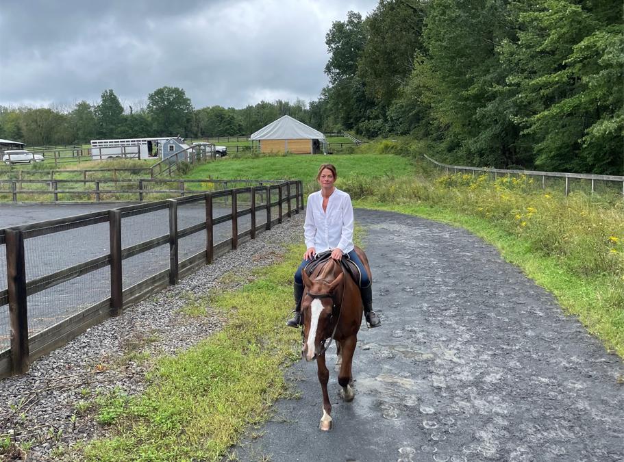 Riding at the Polo Farm